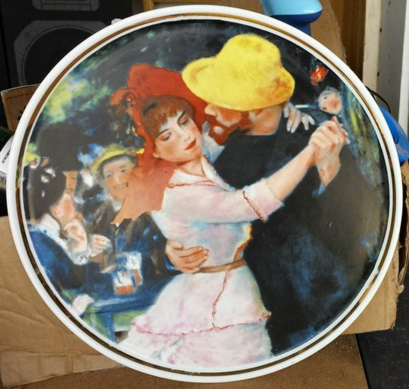 Limoges Art Wall Plate or Cake PlatterRenoir-Le Bal a BougivalOceanic France C & Limoges Art Wall Plate or Cake and 50 similar items