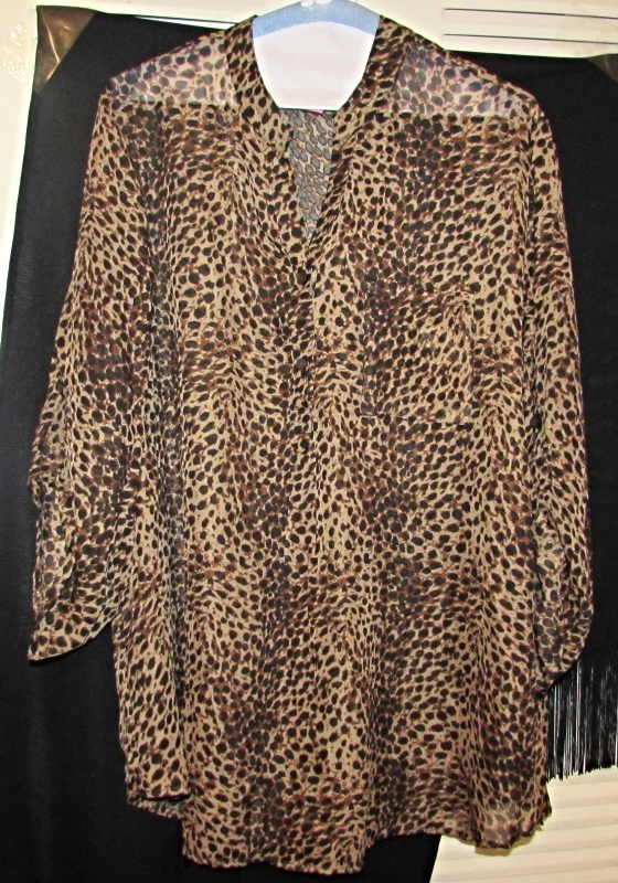 Mix & Co. Animal Print Blouse Size: 2X