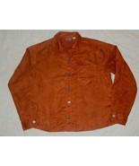 CHICO'S  brown Long Sleeve  MICROSUEDE MOLESKIN Button Down shirt  Top s... - $9.99