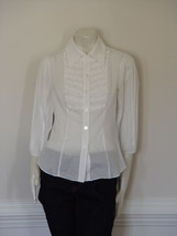 DIANE von FURSTENBERG AVALON WHITE BLOUSE TOP - US 4 - UK  8 - $69.66