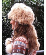 Folklorical fur hat, cap made with pure Alpaca fur  - $114.00