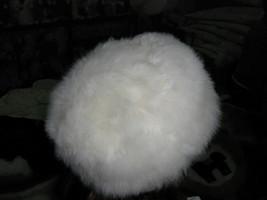 White fur hat, a furry cap made of Babyalpaca pelt - $96.00