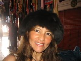 Black fur cap, babyalpaca fur hat - $114.00