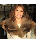 Brown Alpaca fur stola, neck warmer, shawl - $188.00