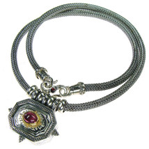 Gerochristo 3058 - Solid Gold, Silver & Tourmaline - Byzantine-Medieval ... - $590.00