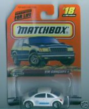 Matchbox MBX Metal 1999 #18 VW Concept 1 Volkswagen - $3.36