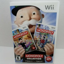 Monopoly Collection 2 in 1 Game (Nintendo Wii, 2011) w Instruction Booklet - $22.76