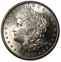 1891S MORGAN SILVER ONE DOLLAR Coin Lot # EA 185