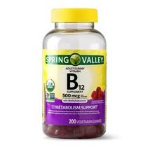 Spring Valley Vitamin B12 Gummy, 500 mcg, 200 Ct - $13.37