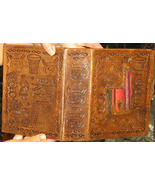 leather bound photo album,engraved with Inca si... - $48.00