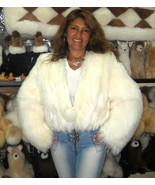Fur Jacket, outerwear with long hair Babyalpaca pelt  - $560.00