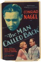 * THE MAN CALLED BACK Midget Window Card Conrad Nagel, Dir: Robert Flore... - $49.99