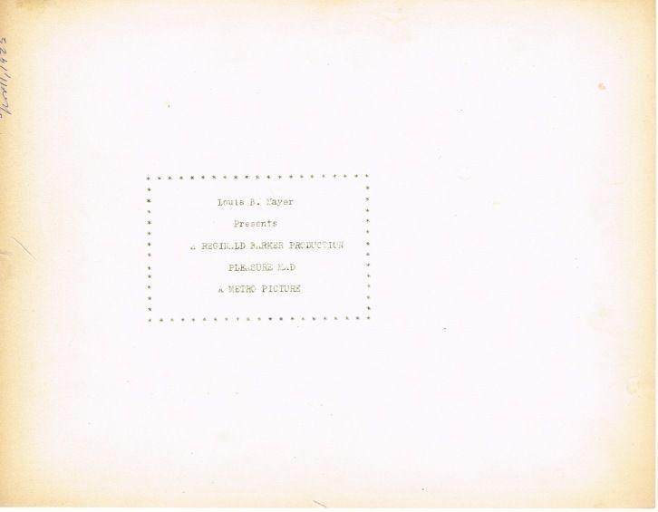 * PLEASURE MAD 8x10 Norma Shearer, Huntley Gordon, Ward Crane Silent Drama 1923