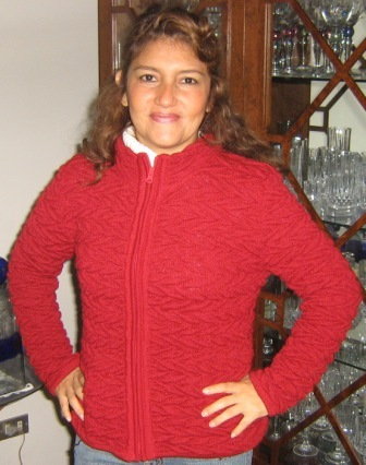 Red jacket made of alpacawool, outerwear