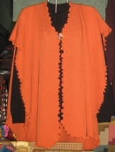 Set of cape and sweater made of pure Alpacawool - $165.00