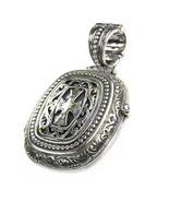 Gerochristo 3357- Medieval-Byzantine Sterling Silver Locket Pendant with... - $220.00