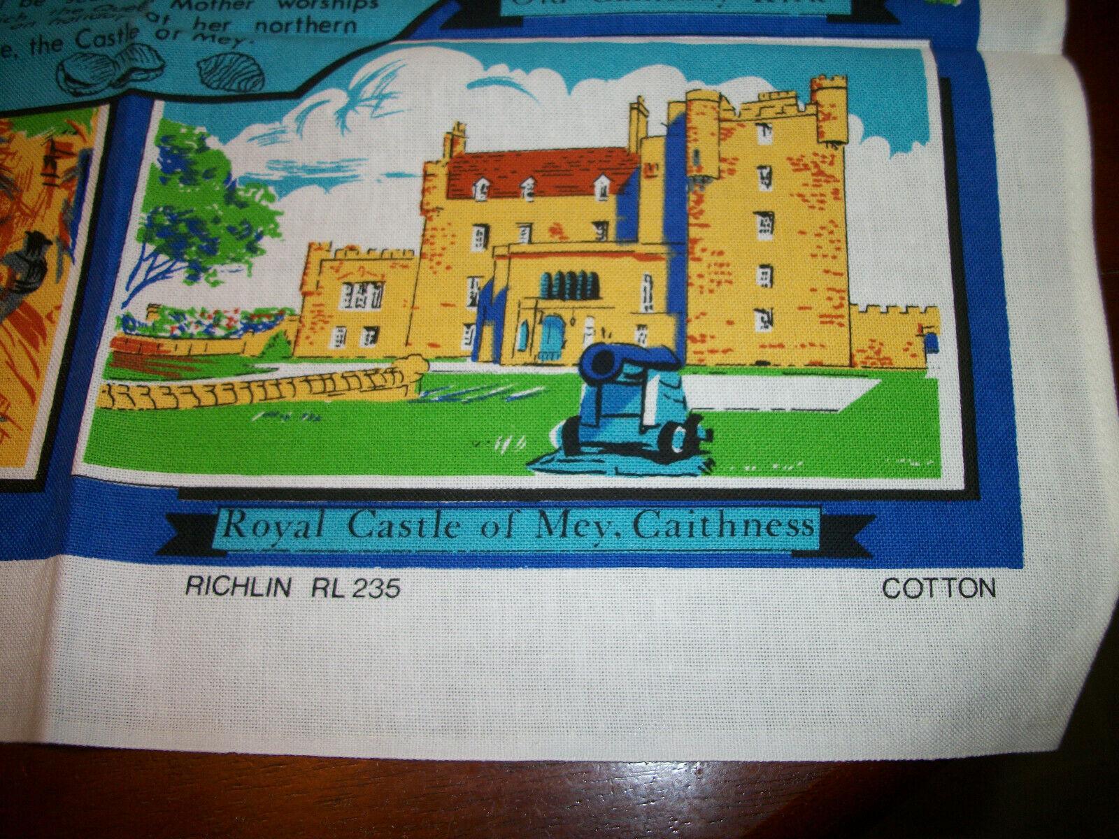 LOT 2  Vintage NWOT  Cotton Kitchen Tea  Towel UK souvenir image 6