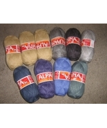 2.2 pounds mixed colored alpacawool,knitting wool  - $82.00