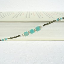Eyeglass Holder Necklace, Turquoise Eyeglass Chain Beaded, Turquoise and... - $24.50
