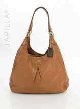 Coach 21225 Maggie Mia Whisky Brown leather shoulder bag Purse - £109.32 GBP