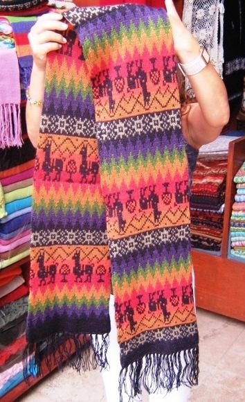 Colored Scarf, shawl,neck scarf , Alpaca wool