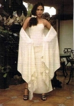 Ekological pima cotton,long Dress with shawl  - $165.00