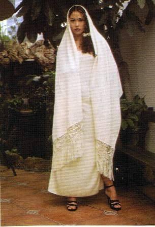Ekological pima cotton,long Dress with shawl