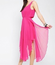 Renn Lattice-Back Silk Chiffon Maxi Dress - Urban Outfitters, sz. M, MSR... - £37.59 GBP