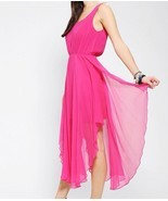 Renn Lattice-Back Silk Chiffon Maxi Dress - Urb... - $50.00