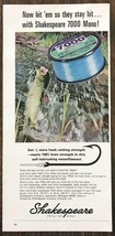 1967 Shakespeare 7000 Mono Fishing Line Print Ad Hit Em So They Stay Hit - $10.70