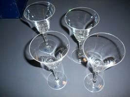 Set Of 4 Towle 24% Full Lead Crystal Cornet Wine or Water Glasses - $15.79