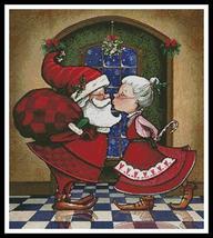 Kissmas Eve christmas holiday cross stitch chart Artecy Cross Stitch Chart - $14.40