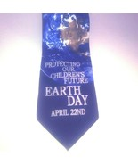 Wild Ties Earth Day Necktie Anniversary April 22nd Black + Earthscape Ph... - $16.93