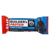 Cliff Bar Builder Bar, Cookies N Crm, 2.40-Ounce Pack of 12