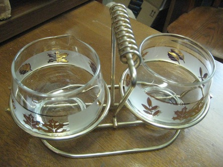 Primary image for Vintage 1950's Sugar   Creamer and Holder Set New