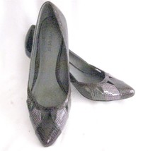 "Size 8M Nine West Heels Pumps 2.5"" Heels Textured Burgundy Wine - $8.81"