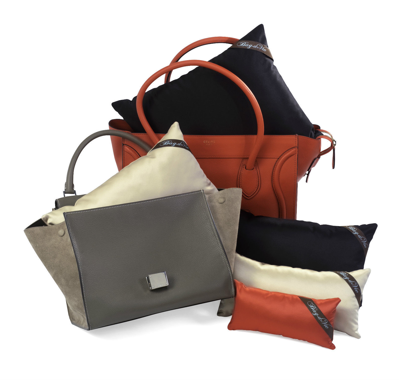Primary image for Bag-a-Vie Pillows Inserts Fits Hermes Celine Protect Designer Handbags Medi