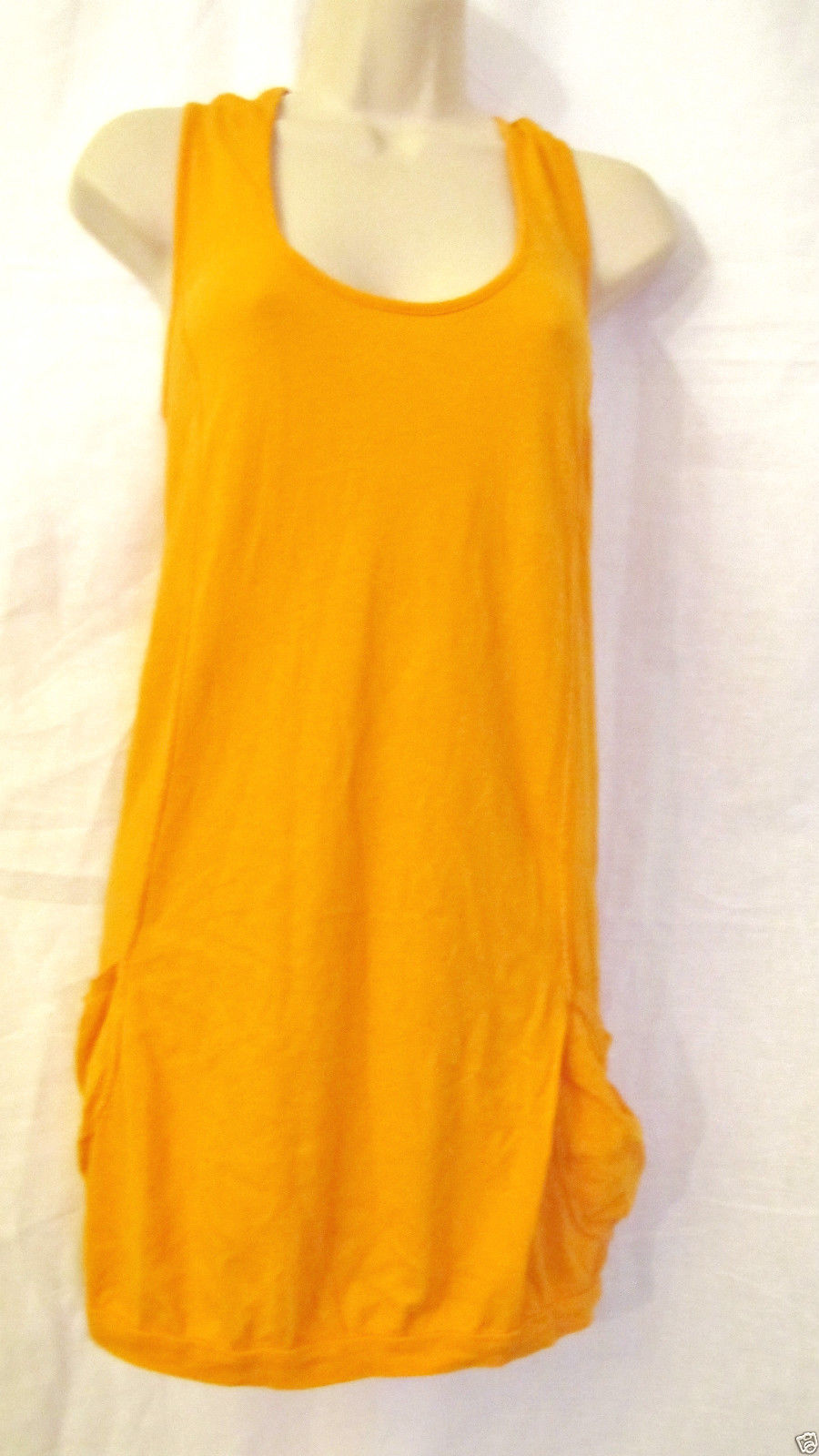 Primary image for NWT EMMA&SAM LF KNIT COTTON TANK SUMMER DRESS TOP SUNDRESS,SZ S SMALL,TANGERINE