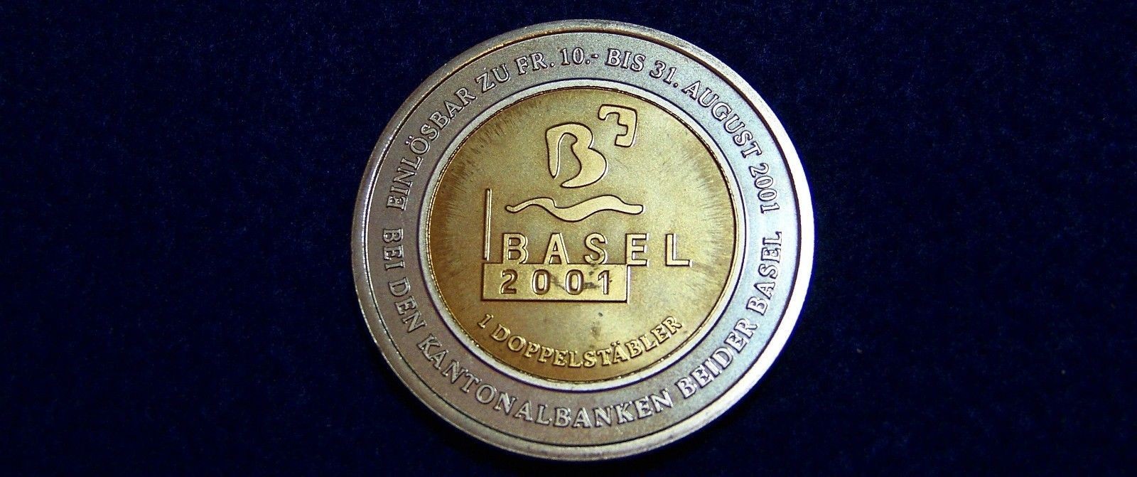 "Primary image for 2001 Switzerland Bimetallic Token ""KANTON BASEL"", Brilliant Uncirculated"
