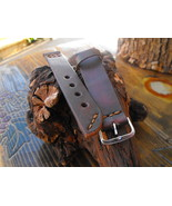 20mm leather watch strap hand made strap antique color watch band - $34.91