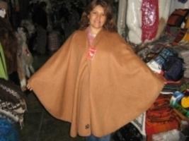 Brown alpaca fabrik Poncho,outerwear  - $120.00
