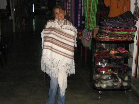 Poncho with shawl made of alpaca wool,outerwear