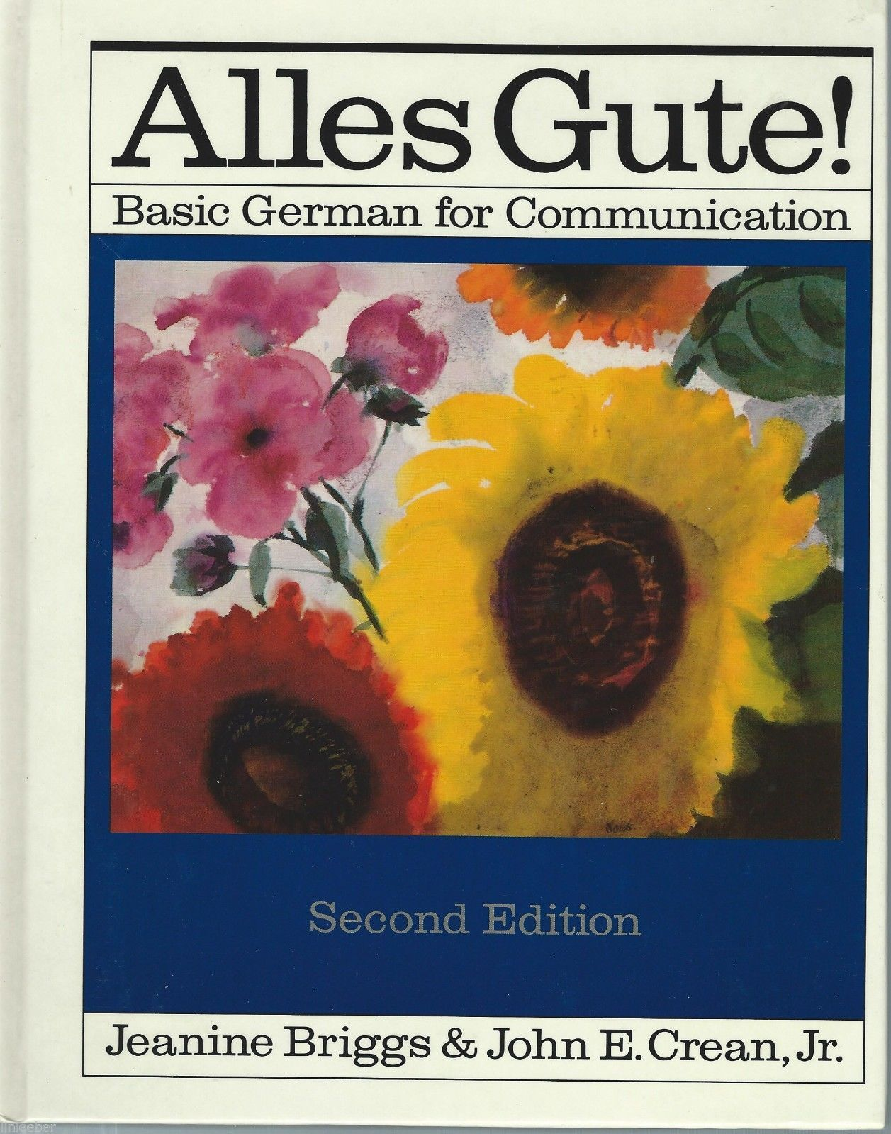 Primary image for Alles Gute!:Basic German for Communication by Jeanine Briggs;1986 HC;BEGINNERS