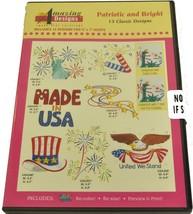 Estupendo Diseños Patrióticos y Brillantes Diseños de Bordado CD, ADC-231 - $26.96