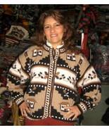 Ethnic jacket,cardigan made of pure Alpaca Wool  - $85.00
