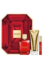 Michael Kors Sexy Ruby for Women 3 Piece Gift Set with Eau de Parfum Spr... - $102.31