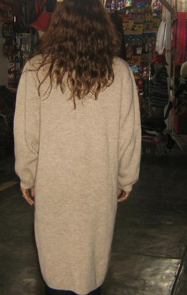 Woolen Long coat made of pure Alpacawool
