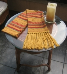 Yellow shawl,Alpacawool, the scarf is 62 Inches long