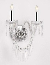 Murano Venetian Style Crystal Wall Sconce Lighting with Crystal Icicles w/Chrome - $156.79
