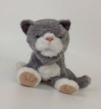 Hasbro FurReal Friends Newborn Silver Mitted Kitten Newborn Cat Animated... - $21.33